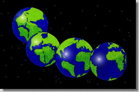 Breakup of Pangea